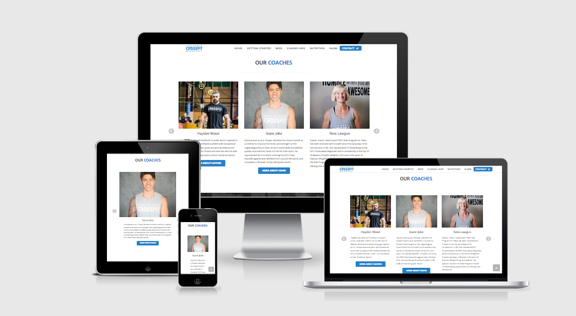 Responsive Far North CrossFit Website by Perfectorium