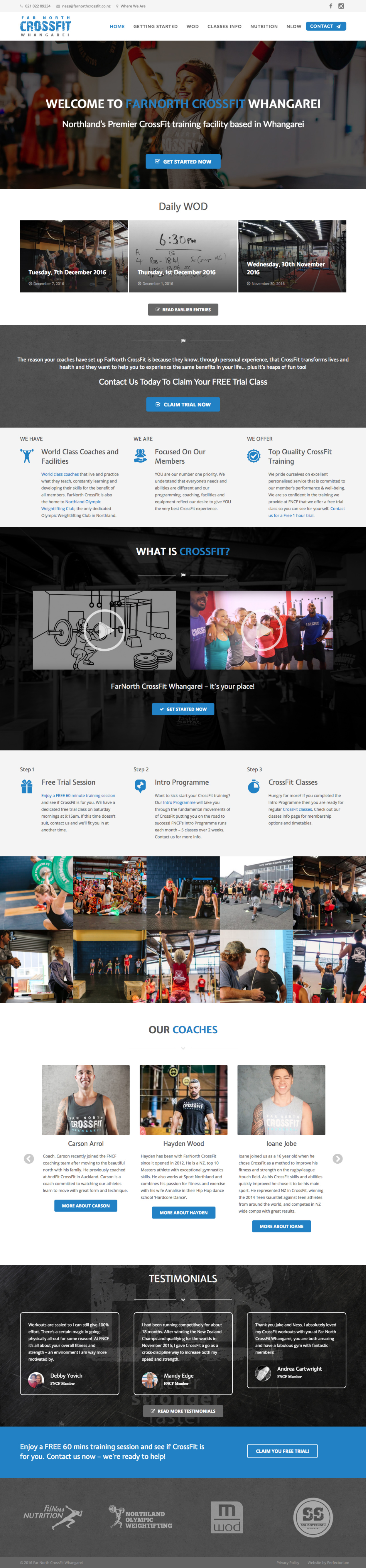 Far North CrossFit Website by Perfectorium
